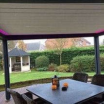 Led strips onder overkapping