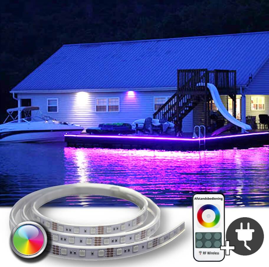 Tuinverlichting set met RGB led strip