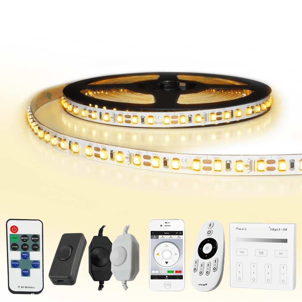 1 METER - 120 LEDS complete led strip set Warm Wit