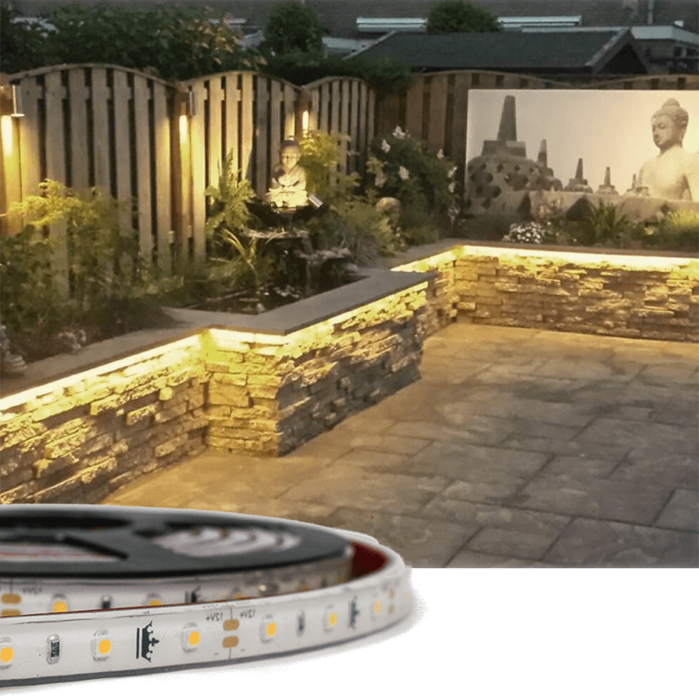 1 meter Warm Wit Basic led strip voor buiten losse strip