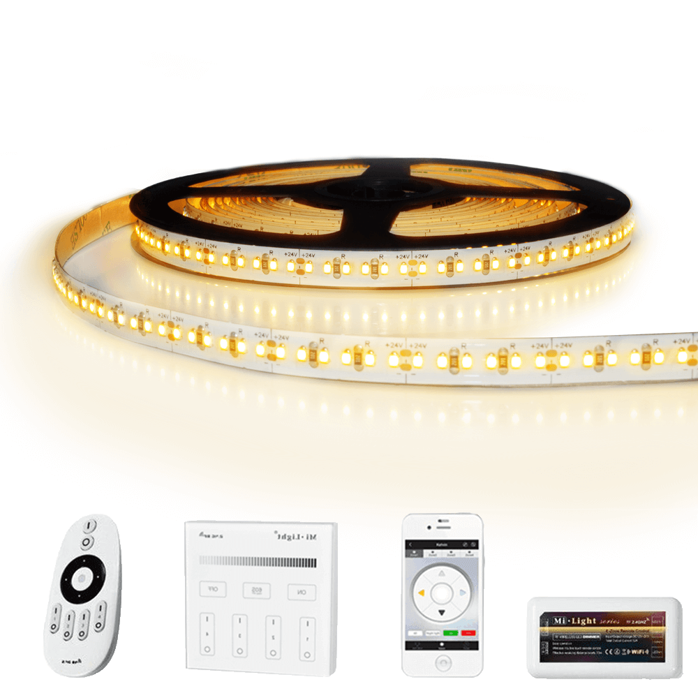 15 meter led strip Warm Wit Pro - complete set