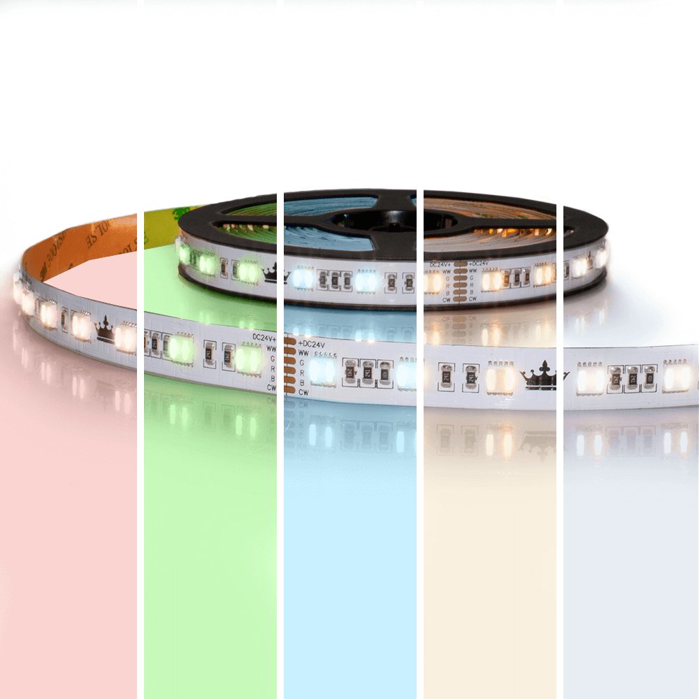 2 meter RGBWW led strip Premium met 120 leds - losse strip