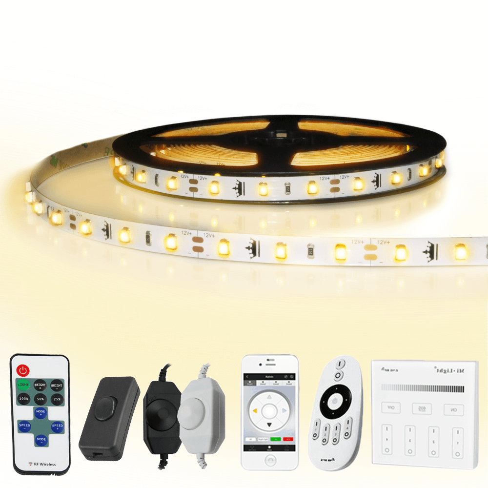 20 meter led strip Warm Wit complete set - Basic 1200 leds