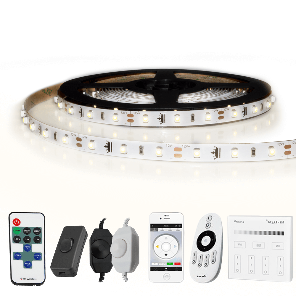 5 METER - 300 LEDS complete led strip set Helder Wit