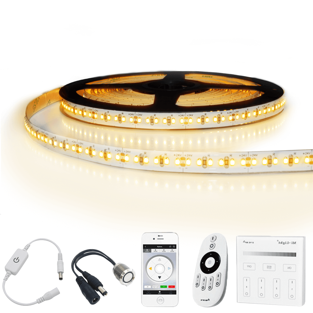 5 meter led strip Warm Wit Pro - complete set