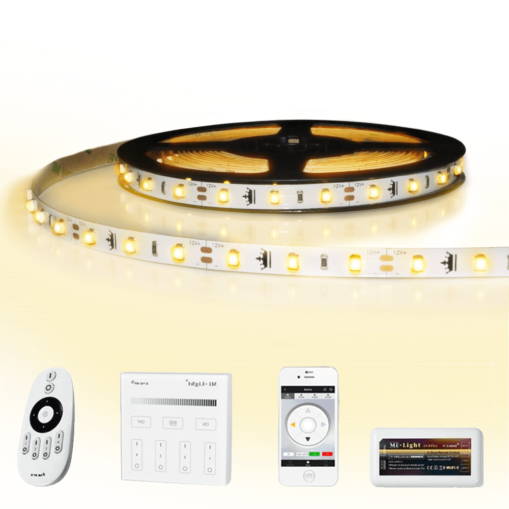 50 meter led strip Warm Wit complete set - Basic 3000 leds