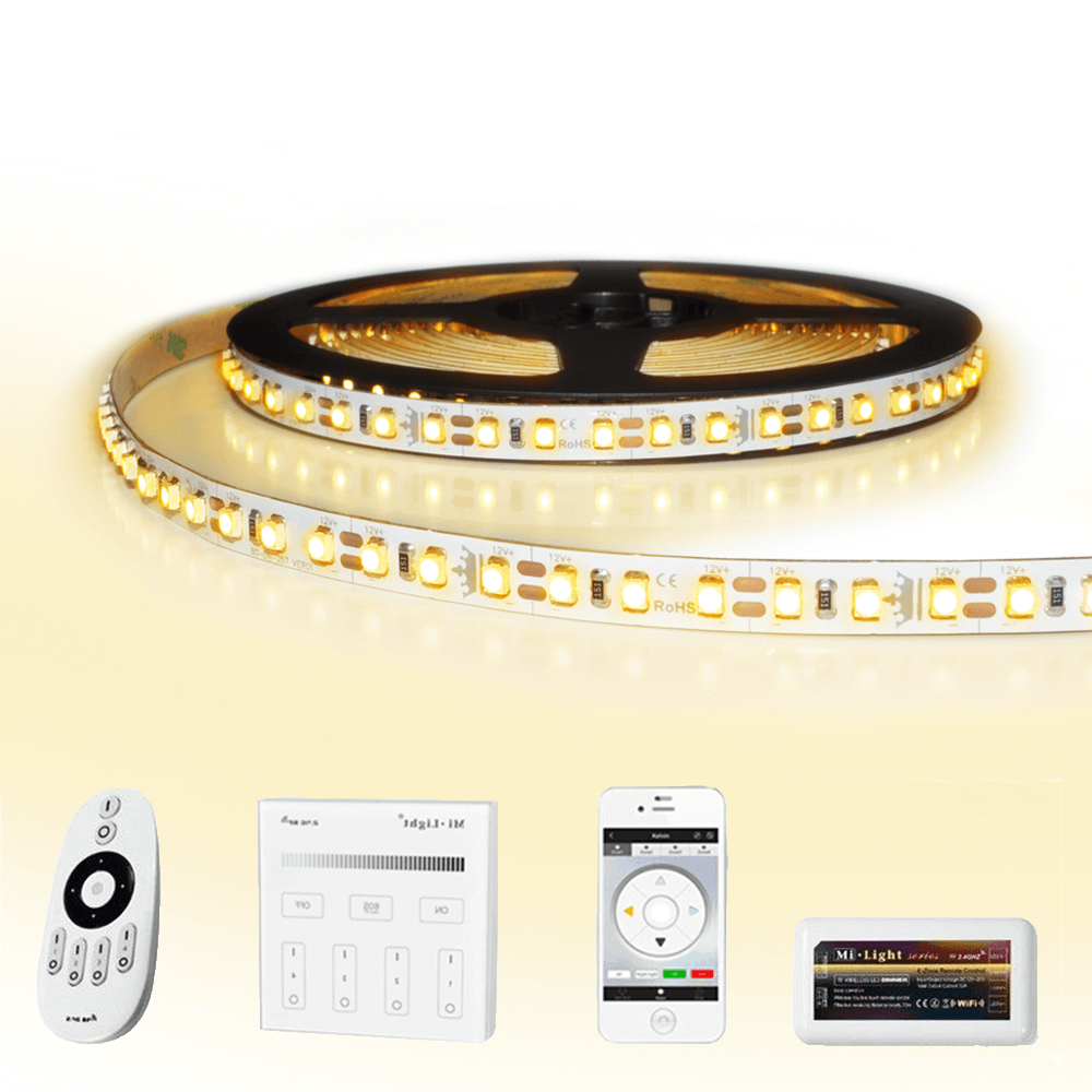 50 meter led strip Warm Wit complete set - Premium 6000 leds