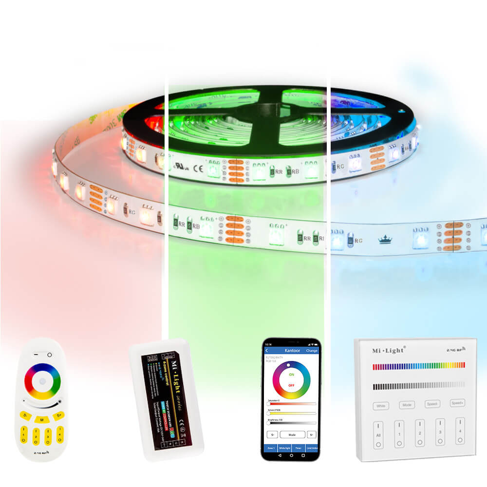 50 meter RGB led strip complete set - 3000 leds